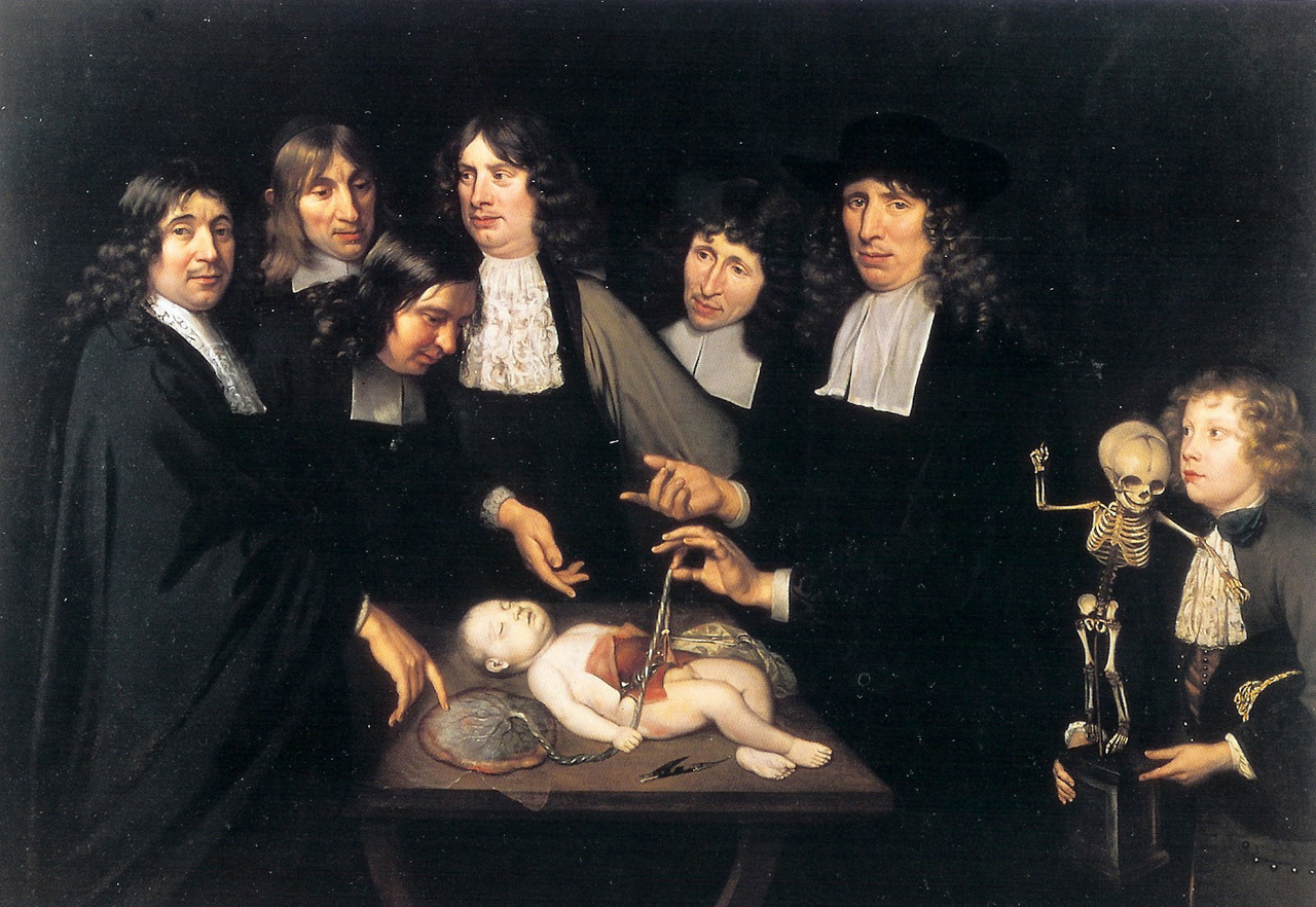 lecollecteur:  Jan van Neck, Anatomy lesson of Dr Frederik Ruysch.