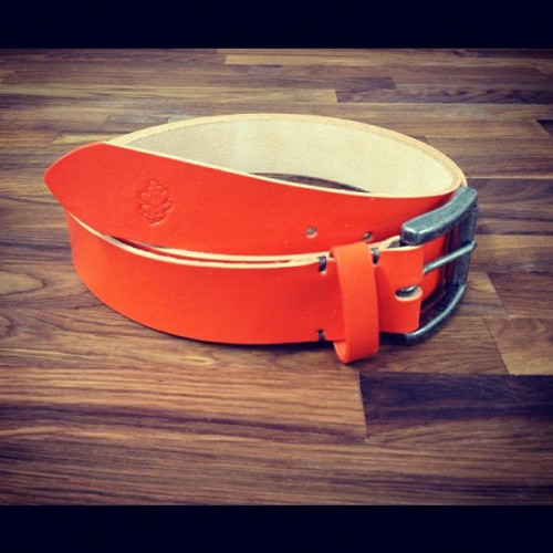 royaloaksupplyco:  Custom Eastwood belt commissioned for @mrcoreyknight (aka @presentingcorey) of A&H Magazine  Love it.