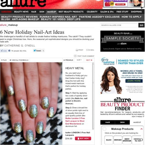 Learn how to do this (super easy) mixed metal mani over at allure.com! With looks from our friends @fleuryrosenails @jessicawashick @stephstonenails @mpnails @missladyfinger 💅😘