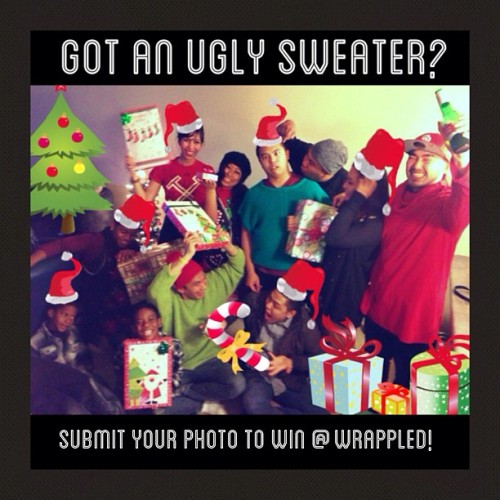 Enter our ugly sweater photo contest to win a new iPhone 5 and more! Upload a photo of you in your ugliest sweater and tag us @wrappled and use the hashtag #wrappleduglysweater. Spread the word and show us your ugly sweater style! Contest ends Dec. 21st! More details Facebook.com/Wrappled #giveaway #contest #uglysweater #ootd #wiwt #potd #instadaily #igdaily #iphone #iphone5 #instagram #webstagram #iphoneonly #igaddict #instagramhub #instamessage #holidayswag #grandmassweater #holidayfashion #win