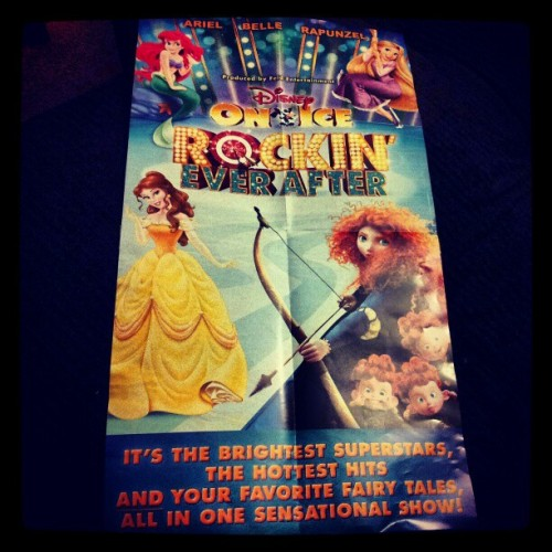 My babe got us Disney on ice tickets! :D im such a little kid!!!  #Ariel #Rapunzel #brave #Belle #beautyandthebeast #thelittlemermaid #tangled #love