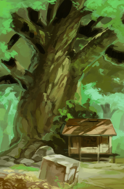 3+ hour study ref'd from a totoro poster (i think?). just wanted to see if i could do something in one sitting.