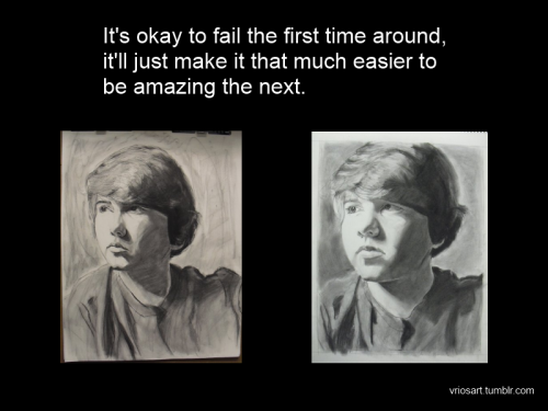 A lot of people forget that no one is amazing at first, it takes time and practice.