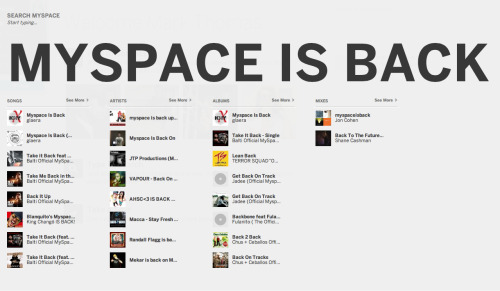 MYSPACE, WE MEET AGAIN.