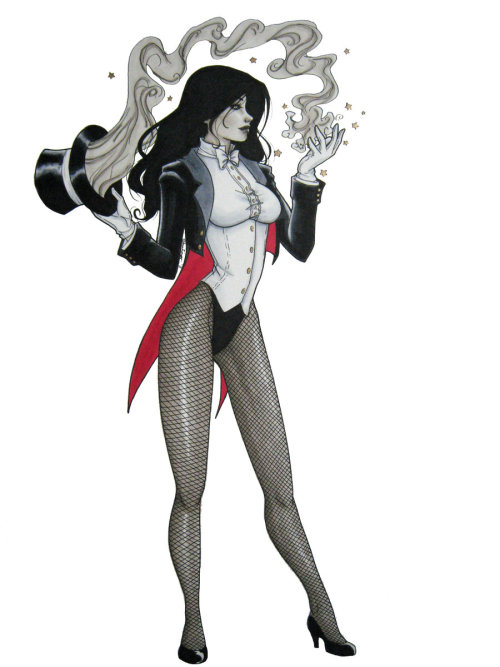 Happy Birthday, Zee! Zatanna by Jackie Santiago Magic Monday