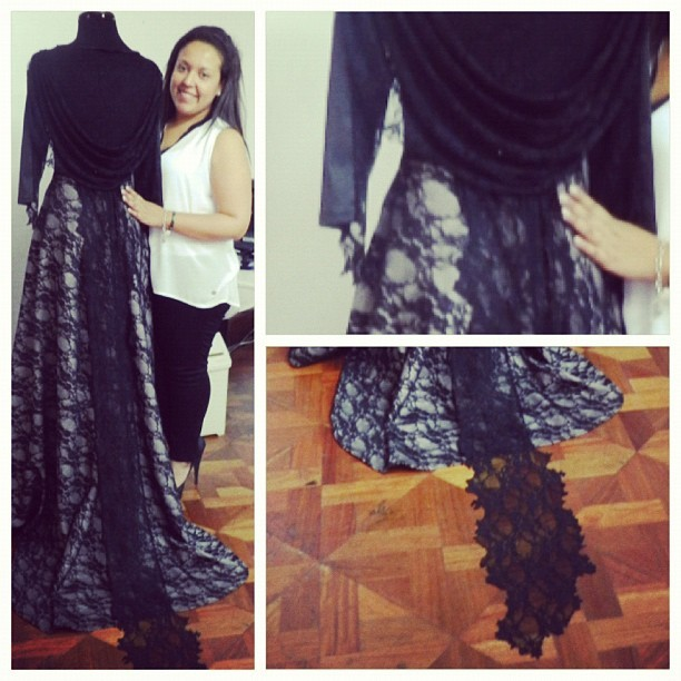 ifiwannabeablogger:  My first dress. #RoyalBlack #collection #myfirstcollection #designer #fashiondesigner #lace #elegant #black #instacollage #igersperu