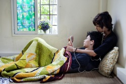 Photographing The Loving Gays of Vietnam  Maika Elan's The Pink Choice photo series   Even though many people seem to be open about homosexuality, it turned out to be untrue when I showed people photos of homosexual couples in intimate moments. Most of them found the photos disgusting and unacceptable. This reaction was a source of inspiration to me. My goal was to make photos about homosexuals that incite feelings of romantic love that is natural and beautiful. I chose to capture casual daily activities of the couples that can be familiar to anyone. By doing so, I hope to make the audience become interested, then gradually empathize with homosexual people. Many projects/artworks on homosexuality in Vietnam tend to focus on either deviances (especially in movies, with images of homosexuals portrayed in ridiculous clothing and make-up, mincing, shrewish or rude manners…) or symbolic images. In photography, homosexuals are not presented as themselves in pictures. And if they are, they're usually photographed from behind or with masks on. These all foster weird and absurd images of homosexuals rather then present more understanding perspectives. In turn, homosexuals become even more intimidated and isolated. The Pink Choice has a different approach as it seeks out personal stories using direct language: documentary photography to capture real moments and real people. (Sources: InvisiblePhotographer.Asia, Vice.com)