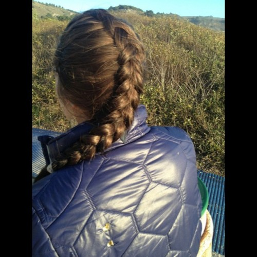 theprivatesector:  #frenchbraid #myhair #inverted #diditmyselfonmyself! Thanks @baysessions #stinsonbeach  Very nice braid!
