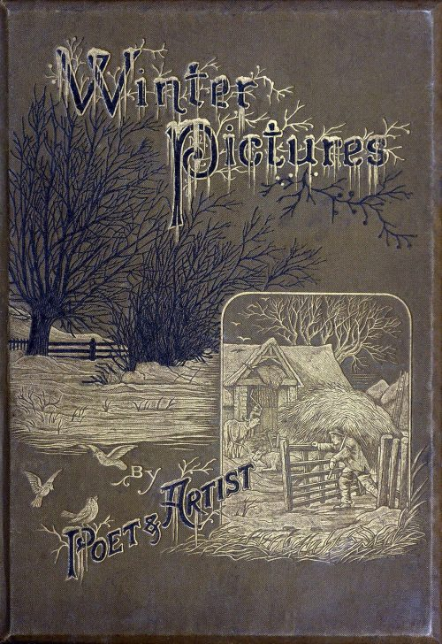 oldbookillustrations:  Front cover from Winter pictures, by Edward. Whymper, London, not dated (c. 1875?). (Source: archive.org)