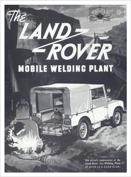 Land Rover Mobile Welding Plant