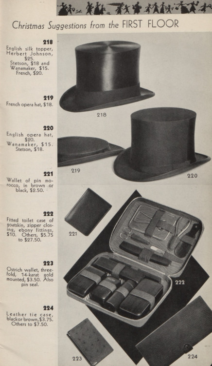 ~ Wanamaker catalog, 1950via Hagley Museum and Library(click to enlarge)