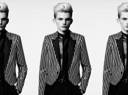 FINE STRIPES | Saint Laurent by Hedi Slimane S/S 13 Lookbook.
