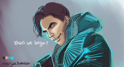 "enerjax:  Villainous!Benedict I am waiting for this"" so… so bad.  *EDIT*Have an evil!Benny close-up"