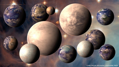 "starsaremymuse:  Exoplanet Catalog Reveals 7 Possibly Habitable Worlds A new catalog aims to list all the known planets in the galaxy that could potentially be habitable to life. The count is at seven so far, with many more to come, researchers said. The online listing, called the Habitable Exoplanets Catalog, celebrated its first anniversary today (Dec. 5). When it was first released last year, it had two potential habitable planets to its name. According to lead researcher Abel Mendez, the team expected to add maybe one or two more in the catalog's first year. The addition of five suspected new planets was wholly beyond anyone's expectations. ""The main purpose is for research, but then I realized that also for the public, it was very important,"" said Mendez, director of the University of Puerto Rico at Arecibo's Planetary Habitability Laboratory. [Read more here]"