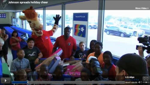"Watch the TexansTV recap of Andre Johnson's holiday trip to Toys ""R"" Us"