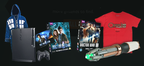 UK Whovians! Play Doctor Who Facebook's Vortex App, win stuff from BBC Shop   Fancy trying to win some Doctor Who-flavoured pressies for yourself. Thanks to a new app on the show's official facebook page, Doctor Who fans in the UK can get their hands on a fantastic range of wibbly-wobbly timey-wimey gifts and merchandise every day. Hundreds of incredible Doctor Who presents have been sucked into the Time Vortex and have been lost across space and time. Fans can jump in and explore the Vortex in an attempt to hunt down the lost presents and if found, it's theirs to keep. There's no need to panic if a present isn't found – users get the chance to open 10 boxes every 24 hours. As well as instant win prizes, users can pick their favourite Doctor Who gift from the BBC Shop Carousel and hide it in the Vortex. By inviting their friends to join the hunt and help find them find their box, the chances of winning are increased. If a friend finds a users' hidden gift, then both the friend and user win it. Geronimo!   Only valid to those in the UK. Visit the game here!