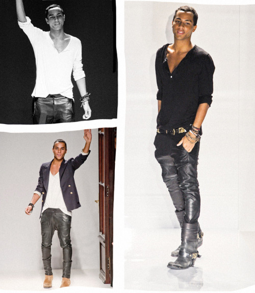 dangerouslyglam:  non—-sequitur:    Olivier Rousteing, creative director of Balmain. YESSSSSSSSSSS! http://www.forbes.com/sites/raquellaneri/2011/05/05/name-you-need-to-know-olivier-rousteing/