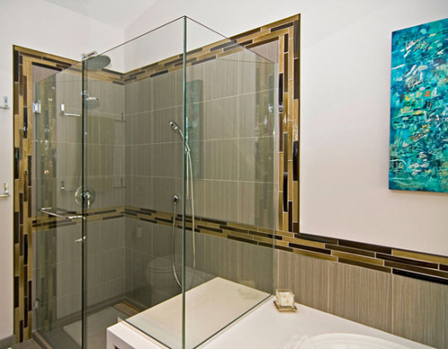 A small shower tile for the floor can keep you safer. A large shower tile on a shower bench will feel better. Learn more about choosing shower tiles.