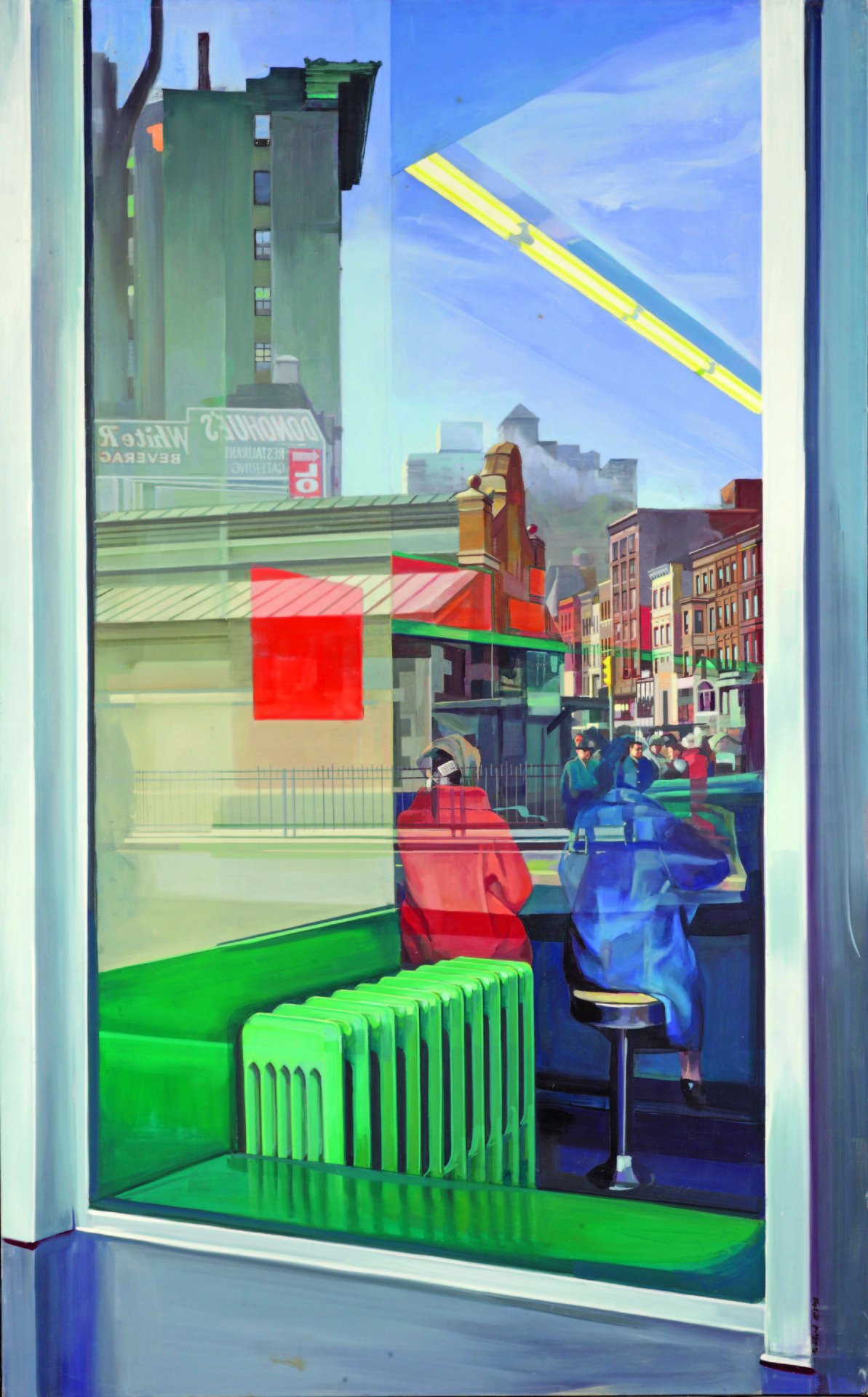 Donohue's Richard Estes, 1967 Oil on masonite | 122.5 x 76.5 centimetres via Amin Jaffer's pick, Adbuzzzz Section of The DAWN National Weekend Advertiser