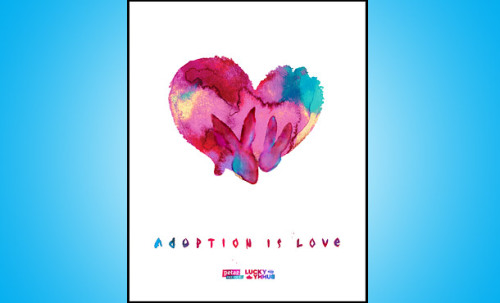 "peta2:  peta2 has an exclusive ""Adopt"" poster with Lucky Bunny artist Rich DeSimone. These limited-edition posters are on sale NOW at the peta2 store!"