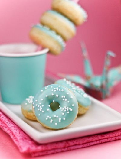 Yummy blue donuts!
