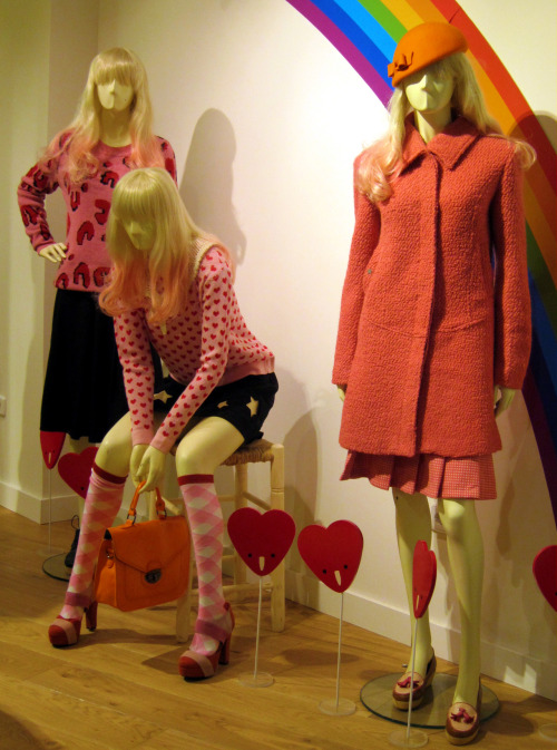 In the pink for Winter brights at Kling. WGSN store shot, Barcelona