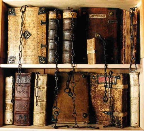 bluepueblo:  Ancient and Antique Books, Chetham Library, Manchester, England photo via kiira