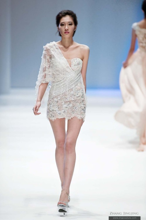Glassbeads Embroidery mini dress - Zhang jingjing spring summer 2013 haute couture