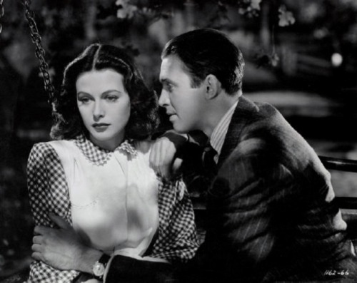 "lars134:  Jimmy Stewart and Hedy Lamarr in ""Come Live With Me"" (1941)"