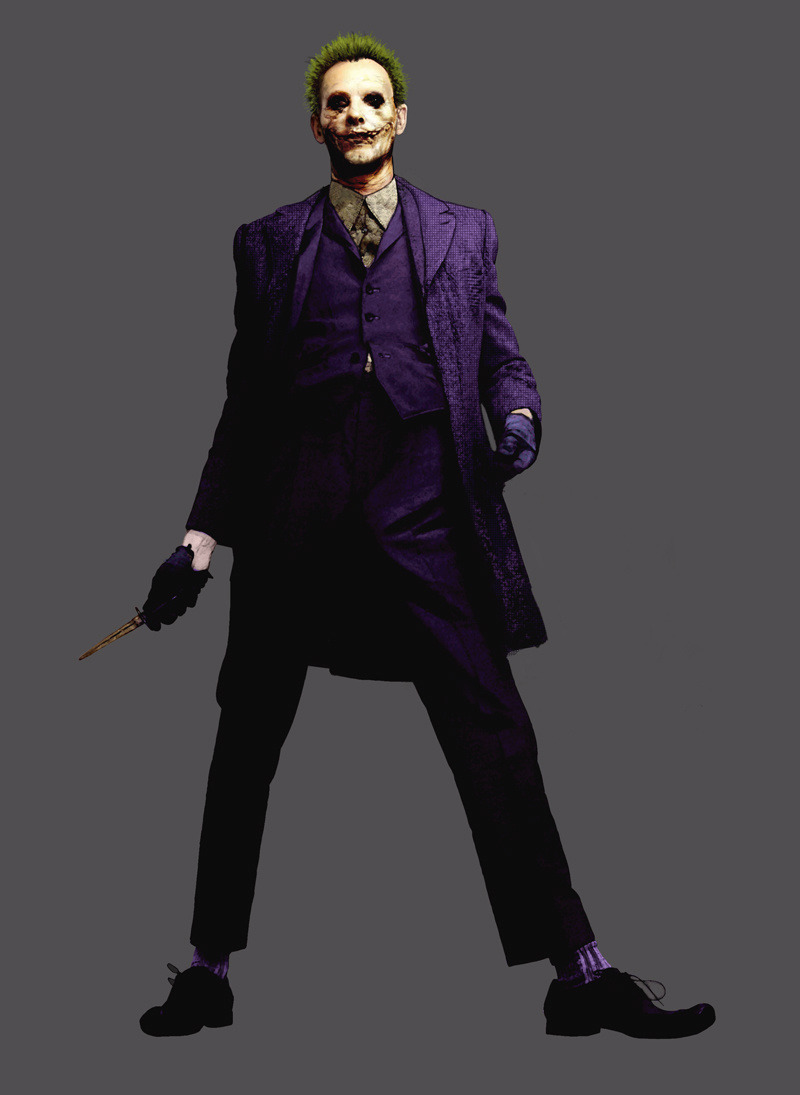 Joker concept art for The Dark Knight