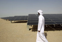 laboratoryequipment:  Middle East is Embracing Solar TechFileCovering nearly 300 football fields in a remote patch of desert, the Shams 1 solar project carries off plenty of symbolic significance for the United Arab Emirates.It will be the first, large-scale solar project in the oil-rich country when it is completed at the end of the year, and the largest of its kind in the Middle East. At full capacity, the 100-megawatt, concentrated solar project will be able to power 20,000 homes. For those behind the project, it's the surest sign yet that solar is coming to the region in a big way.Read more: http://www.laboratoryequipment.com/news/2012/12/middle-east-embracing-solar-tech