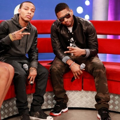 Usher visits 106 & Park yesterday and chops it up with rapper new host Bow Wow…