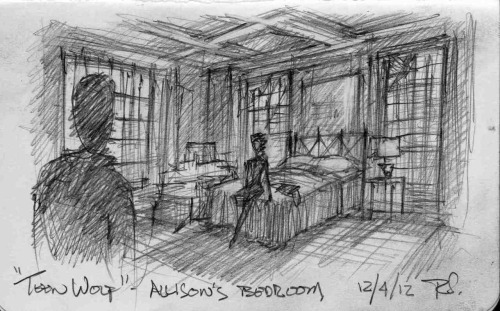 Production Designer Rusty's preliminary sketch of Allison's new bedroom…