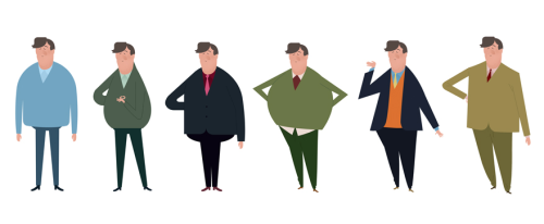 emmanuellewalker:  Visual development of Sir Stephen Fry. Pitch for an animated opening.