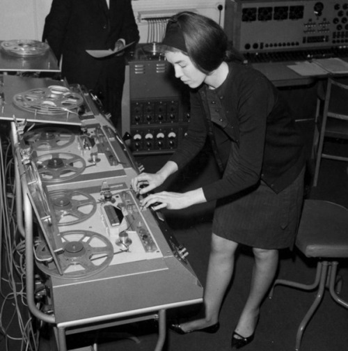 modcloth:  Delia Derbyshire, one of the masterminds behind the theme song for the BBC cult favorite Doctor Who. Find great gift ideas for the synth styler in your life in our music gift guide. image via BBC.