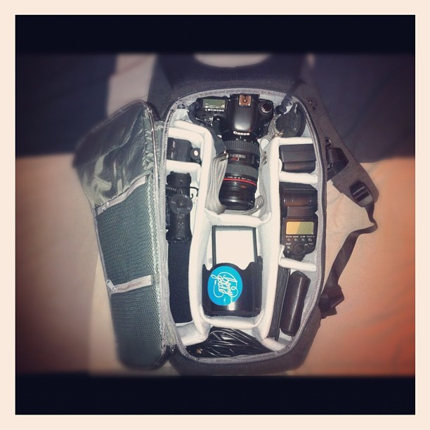 Finally bought my @goincase Pro DSLR Bag. All my equipment is protected properly now. Love it.