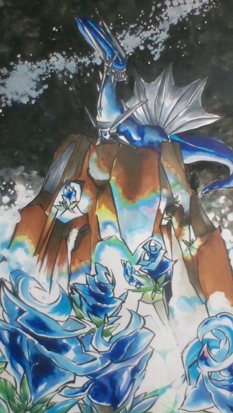 #483 Dialga Temporal Pokémon: It is said that time flows when Dialga's heart beats.