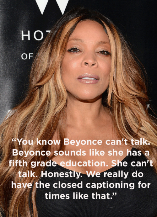 Wendy Williams totally dissed Beyoncé this morning.