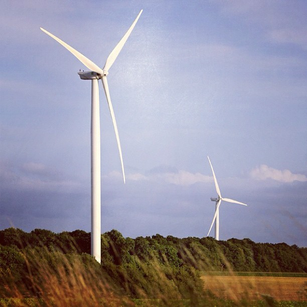 #GE #wind #turbines in operation at the Wieringermeer wind farm in the Netherlands. #energy #technology #windturbines