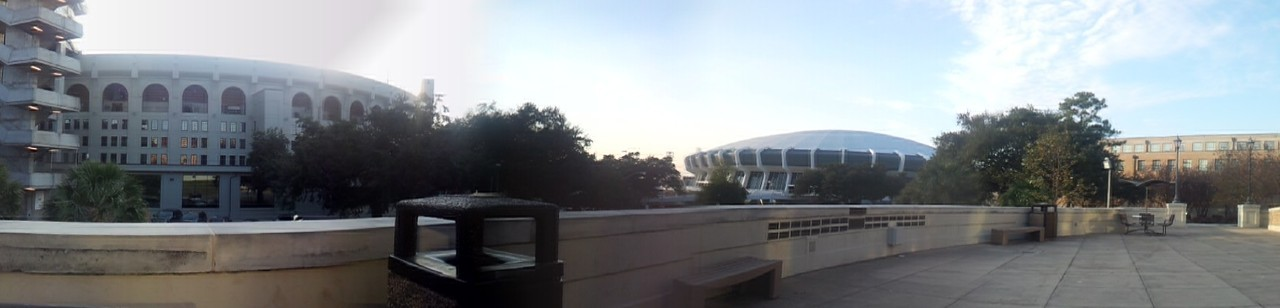 Panorama of Tiger Stadium and the PMAC