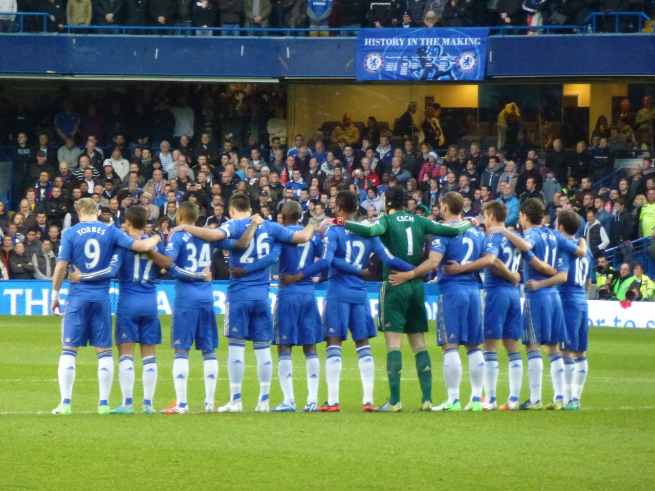 My Photo of Chelsea FC showing the world that football is about RESPECT #adidasphoto
