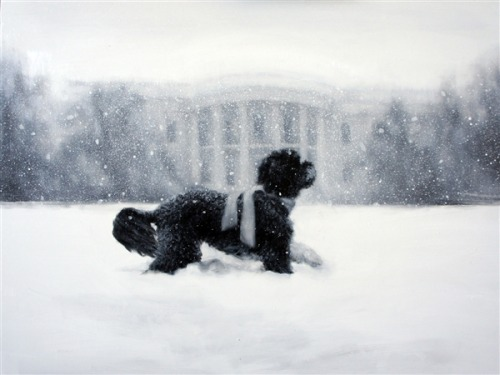 today:  The 2012 White House holiday card stars Bo! Happy holidays!