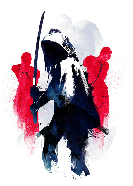 Michonne - by Robert Farkas Available now at Society6 Artist's Website | Facebook