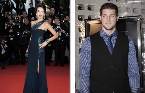 Looks like Tim Tebow and Camilla Belle are getting serious. Tebow has taken Camilla to meet his parents and the meeting went well! Tebow's parents really like Camilla for her strict Catholic beliefs and charity work.
