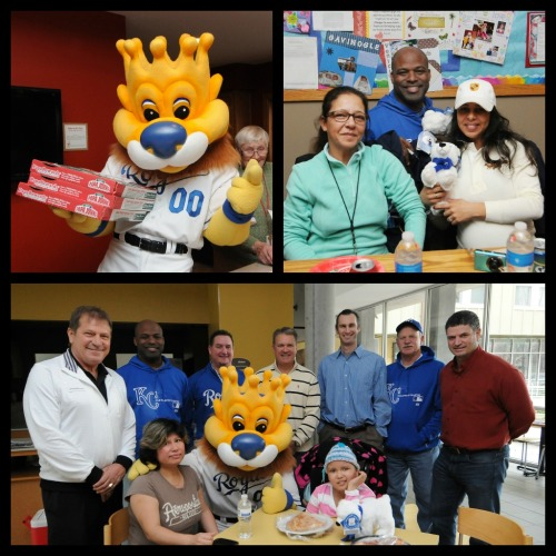 "Today several Royals Alumni and @Sluggerrr served lunch to children seeking treatment at the Ronald McDonald House along with their families.  Ronald McDonald House Charities of Kansas City aims to reduce the burden of childhood illness on children and their families by providing a ""home away from home"" while the children receive medical care in Kansas City-area hospitals."