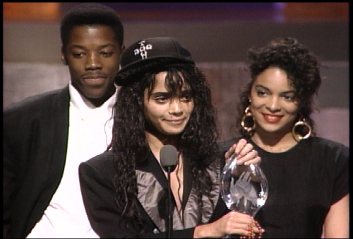 "peakblackness:  KADEEM HARDISON x LISA BONET x JASMINE GUY 1988 People's Choice Awards — Winner, ""Different World"": Best Television Comedy This is sure to open the floodgates that are images/intro themes from 30 years of classic all-Black hit, high quality sitcoms (late 70s-late 90s), and there's NOTHING WRONG WITH THAT. I can't think of a better place to start than with this picture. I mean: Look. At. What. Lisa. Wore. To. The. Awards. Show.  To quote Jenna, ""All Hail / Blessed Be / Palm Rise / WOWOWOWOW."" My thoughts exactly. I'm done for the day.  Rem"