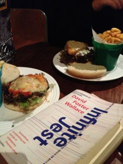 'Infinite Jest' observes the results of build-your-own-burger #hashbrownandbluestiltoninaburger