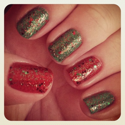 It doesn't get anymore Christmas than this!! #nailpolish #opi #essie
