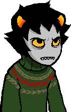 bagelartnstuff:  Karkat obviously loves his sweater. sweater pattern