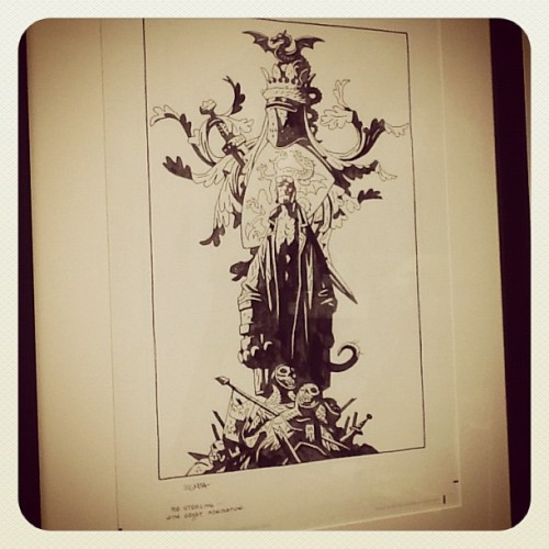 The Spoils: Prized possession 1: Hellboy original from Mike Mignola.